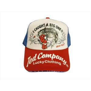 TEDMAN/テッドマン・エフ商会 キャップ 帽子 TDC-6700 「バス・フィッシング」アメカジ メッシュキャップ トリコロール|bros-clothing