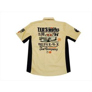 テッドマン TEDMAN×カミナリ・コラボ 半袖シャツ TDKMS-02