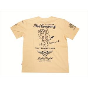 テッドマン TEDMAN/エフ商会 オール刺繍 半袖Tシャツ TDSS-497