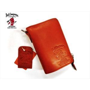 TEDMAN/テッドマン・エフ商会 ラウンドジップ ショートウォレット TDW-260 牛革 ラウンドZIPウォレット(財布)・栃木レザー レッド bros-clothing
