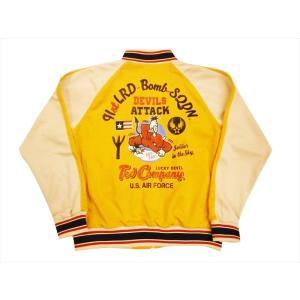 テッドマン TEDMAN/エフ商会 ジャージ TJS-2700 『DEVILS ATTACK』アメカジ・ジャージ/トラックジャケット イエロー|bros-clothing