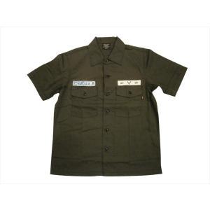 ALPHA アルファ ミリタリー半袖シャツ TS5091 パッチド ユーティリティーシャツ ブラック|bros-clothing