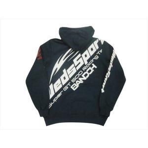 カミナリ×テッドマン TEDMAN×WEDSSPORT BANDOH トリプル・コラボ・パーカー WEDSPSP-100 裏毛スウェット プルオーバーパーカー ネイビー|bros-clothing
