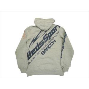 カミナリ×テッドマン TEDMAN×WEDSSPORT BANDOH トリプル・コラボ・パーカー WEDSPSP-100 裏毛スウェット プルオーバーパーカー アッシュグレー|bros-clothing