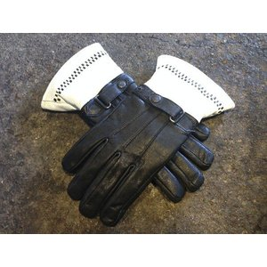 MBR Gauntlet Gloves Black & White モードバイロッカーズ ガントレットグローブ|brown-online