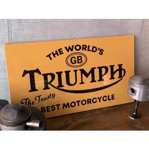 TRIUMPH サインボード ハンドペイントサインボード 看板 手書き看板 brown-online