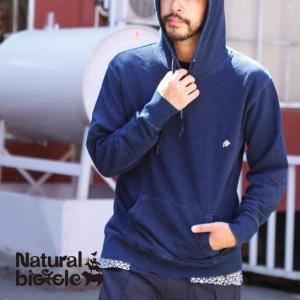 ナチュラルバイシクル Naturalbicycle EZONOHA indigo sweat pull parka|brownfloor