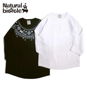 ナチュラルバイシクル Naturalbicycle Ezodic Raglan T brownfloor