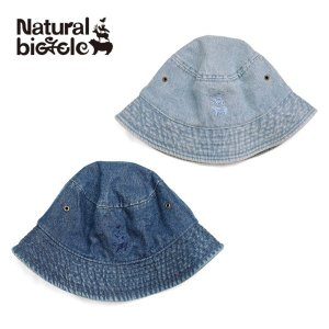 ナチュラルバイシクル Naturalbicycle EZO BAND Embroid Denim Hat|brownfloor