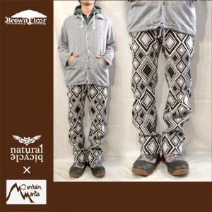 "Naturalbicycle × Mountain Mania JAQUARD MONOTONE CLIMBING PANTS ""Jaq""|brownfloor"