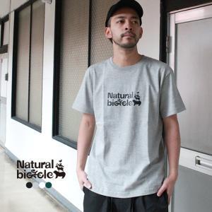 """ナチュラルバイシクル Naturalbicycle """"EZO BAND LOGO T"""" brownfloor"""