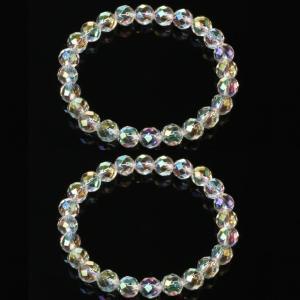 オーロラクォーツダイヤモンドカットブレス2個セット|brtk