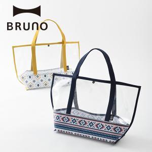 公式 BRUNO ブルーノ ビニールトートバッグ アイボリー ネイビー|BRUNO公式 PayPayモール店