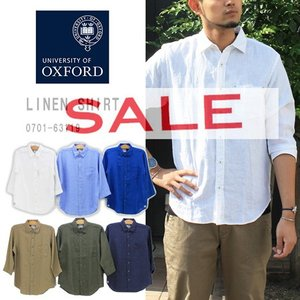 ≪15%OFF&送料無料≫University of Oxford MENS LINEN SHIRT...