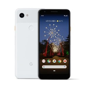 SIMフリー SIMロック解除済 SoftBank Google Pixel 3a 64GB Clearly White ホワイト ☆ 新品 白ロム 本体 ☆|brutusmobile