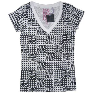 ノーミス NOMIS Squint Print V Tee :WHITE【09-10 レディース Tシャツ】|brv-2nd-brand