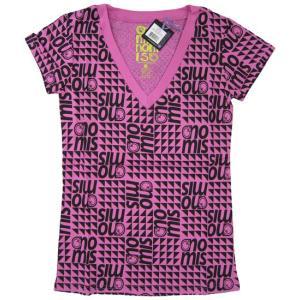ノーミス NOMIS Squint Print V Tee :PINKKIE BREW STER【09-10 レディース Tシャツ】|brv-2nd-brand