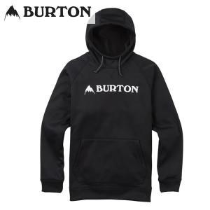 17-18 BURTON ボンデッドパーカー Crown Bonded Pullover Hoodie 10891104: True Black 正規品/バートン/メンズ/スノーボード/ウエア/snow|brv-2nd-brand