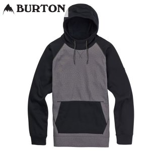 18SS BURTON ボンデッドパーカー Crown Bonded Pullover Hoodie 10891105: Monument Heather 正規品/バートン/メンズ/スノーボード/ウエア/snow|brv-2nd-brand