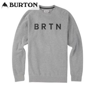 18SS BURTON クルースウェット BRTN CREW 13717103: Gray Heather 正規品/バートン/メンズ/スノーボード/ウエア/snow|brv-2nd-brand