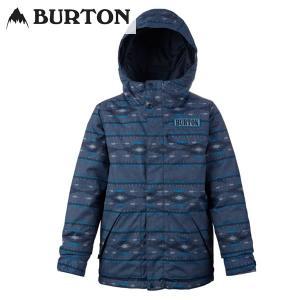 17-18 子供用 BURTON ジャケット Boys' Dugout Jkt 14614002:Mood Indigo Saddle 正規品/バートン/スノーボードウエア/ジュニア/キッズ/snow|brv-2nd-brand
