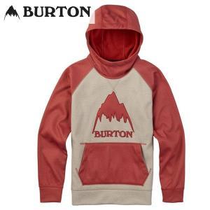 18SS 子供用 BURTON 撥水パーカー Boys' Crown Bonded Pullover Hoodie 16221106: Safari Bosa Nova Htr 正規品/バートン/スノーボード/キッズ/snow/ジュニア|brv-2nd-brand