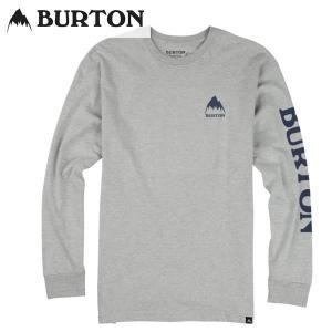 17-18 BURTON 長袖Tシャツ Elite LS Tee 18955100: Gray Heather 正規品/バートン/メンズ/スノーボード/ロンTEE/snow|brv-2nd-brand