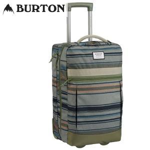 18FW BURTON キャリーバッグ Charter Roller [45L-60L(拡張時)] 11605108: Tusk Stripe Print 正規品/バートン/メンズ/トラベルバッグ/ラゲージ/snow|brv-2nd-brand
