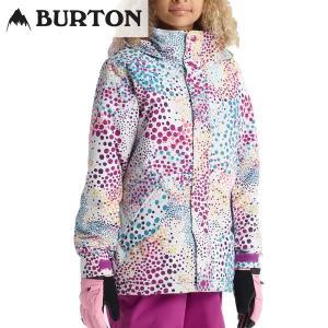 18-19 子供用 BURTON ジャケット Girls' Elodie Jacket 13045104:  Stout White Dots 正規品/バートン/スノーボードウエア/ジュニア/キッズ/snow|brv-2nd-brand