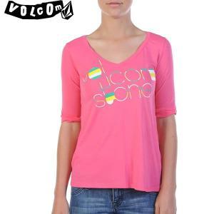 13SPレディースVOLCOM 半袖Tシャツ STONE LINES HALF:EPK ボルコム正規品 B4311306 *sl40〜sf* brv-2nd-brand
