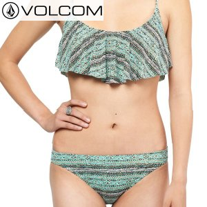 16SP レディース VOLCOM ビキニ WILD DAZE Flutter & Full os6p3102: sea 正規品/ボルコム/水着/bikini/surf brv-2nd-brand