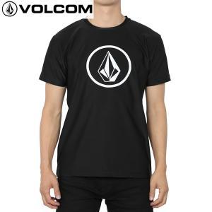 送料無料 17SP VOLCOM ラッシュガードTシャツ CIRCLE STONE SURF TEE n01117ja: blk 正規品/ボルコム/メンズ/半袖/surf|brv-2nd-brand