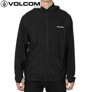 送料無料 17SP VOLCOM ラッシュガード CIRCLE STONE ZIP HOOD n03117jb: blk 正規品/ボルコム/メンズ/長袖/パーカー/surf|brv-2nd-brand