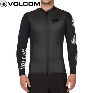 17SP VOLCOM ウェットスーツ CHESTICLE JACKET n1611700: BLK 正規品/長袖タッパー/ウエットスーツ/ボルコム/メンズ/surf|brv-2nd-brand