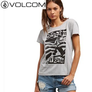 18SU レディース VOLCOM Tシャツ EASY BABE RAD 2 TEE b3521800 : hgr 正規品/Tシャツ レディース/ボルコム/半袖/cat-fs brv-2nd-brand