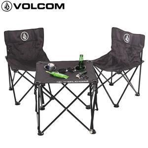 18SS VOLCOM いす&テーブルセット VOLCOM BEACH CHAIR SET d67118jb: blk 正規品/ボルコム/椅子/フォールディングチェアー/cat-fs|brv-2nd-brand
