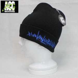 16SN ACC ビーニー turkey: BLK/BLU 正規品/スノーボード/帽子/ニットハット/cat-snow|brv-2nd-brand