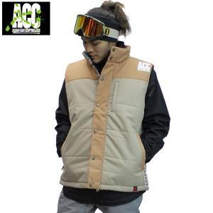 16-17 ACC ベスト COACHING VEST: Camel Beige 正規品/スノーボードウエア/ウェア/メンズ/レディース/ユニセックス/ジャケット/snow|brv-2nd-brand