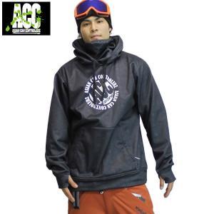 17-18 ACC ボンディングパーカー MID PULL : Mix / Cha 正規品/メンズ/レディース/ユニセックス/スノーボードウエア/ウェア/snow|brv-2nd-brand