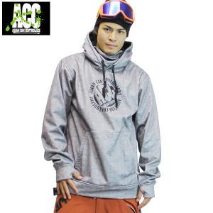 17-18 ACC ボンディングパーカー MID PULL : Mix / Gry 正規品/メンズ/レディース/ユニセックス/スノーボードウエア/ウェア/snow|brv-2nd-brand