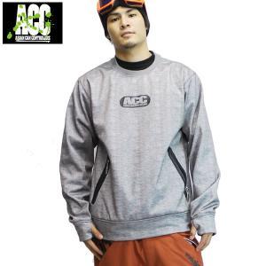 17-18 ACC 防水・速乾クルーネック ROUND NECK DISC : Mix / Gry 正規品/メンズ/レディース/ユニセックス/スノーボードウエア/トレーナー/snow|brv-2nd-brand