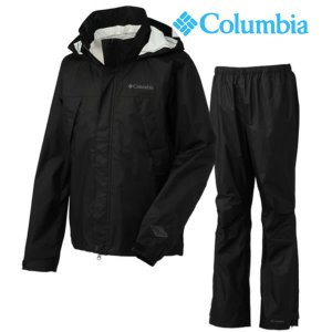 16FA COLUMBIA メンズ GRASS VALLEY RAINSUIT pm0023: Black 正規品/コロンビア/レインウエア/雨合羽/カッパ/cat-out brv-2nd-brand