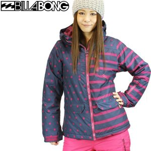 12-13モデル ビラボン BILLABONG #AC01L754 : NVY レディース スノーボードウェア ジャケット *sl40〜sw*|brv-2nd-brand