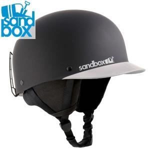 18-19 SANDBOX ヘルメット CLASSIC 2.0 SNOW ASIA FIT: Black Team(MATTE/GLOSS) 正規品/サンドボックス/メンズ/スノーボード/スキー/snow|brv-2nd-brand