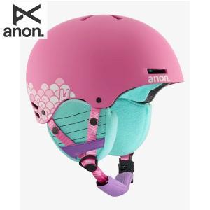 17-18 子供用 ANON ヘルメット RIME 13286103: Animal Trax Pink 正規品/アノン/キッズ/ジュニア/スノーボード/snow|brv-2nd-brand