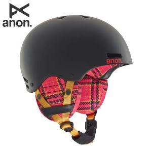 18-19 子供用 ANON ヘルメット RIME 13286104: Flannel Black 正規品/アノン/キッズ/ジュニア/スノーボード/スキー/snow brv-2nd-brand