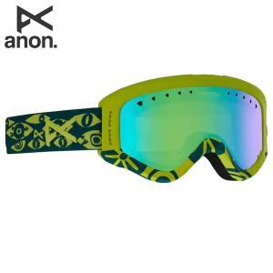 18-19 子供用 ANON ゴーグル anon. Youth Tracker 18526101: Frame: Eye, Lens: Green Amber 正規品/アノン/スノーボード/スキー/ジュニア/キッズ/snow brv-2nd-brand