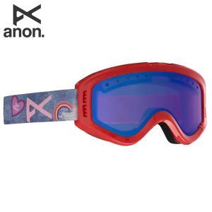 18-19 子供用 ANON ゴーグル anon. Youth Tracker 18526101: Frame: Girl Power, Lens: Blue Amber 正規品/アノン/スノーボード/スキー/ジュニア/キッズ/snow brv-2nd-brand