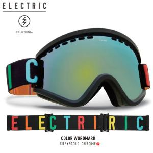 17-18 ELECTRIC ゴーグル EGV COLOR W.MARK eg6317103: Grey/Gold Chrome 正規品/エレクトリック/ボルコム/スノーボード/snow|brv-2nd-brand