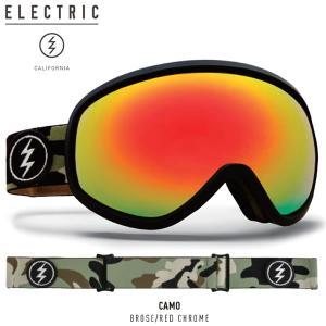 17-18 ELECTRIC ゴーグル MASHER CAMO eg7217304: Brose/Red Chrome 正規品/エレクトリック/ボルコム/スノーボード/snow|brv-2nd-brand